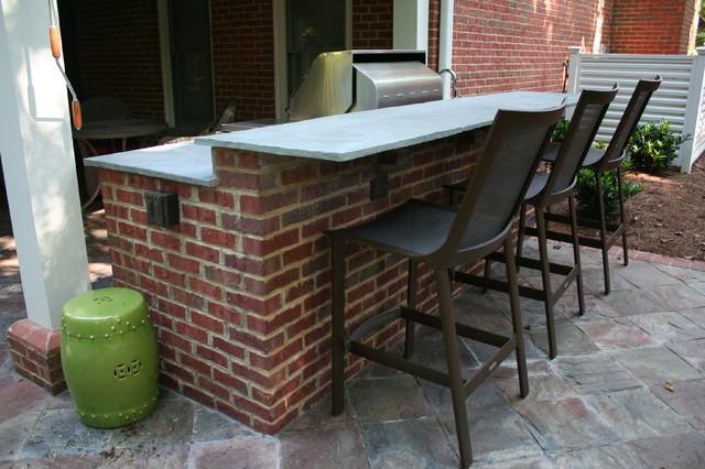 buckhead outdoor brick kitchen with raised bar. Black Bedroom Furniture Sets. Home Design Ideas