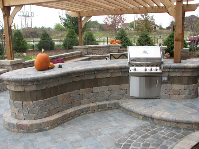 Built in grills bars firetables fire pits and other for Outdoor patio built in grills