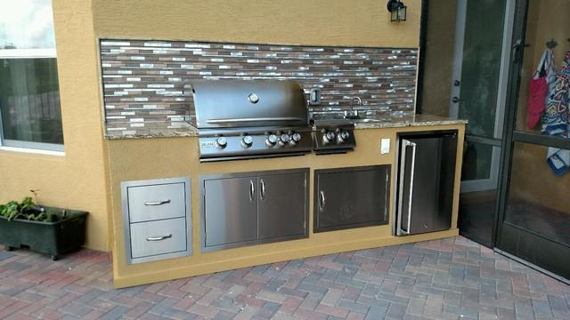 outdoor grill backsplash - backsplashes