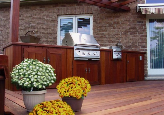 Built In Wood Bbq Contemporary Patio Toronto By