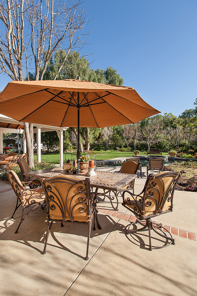 Ca. Ranch style home transformation traditional-patio