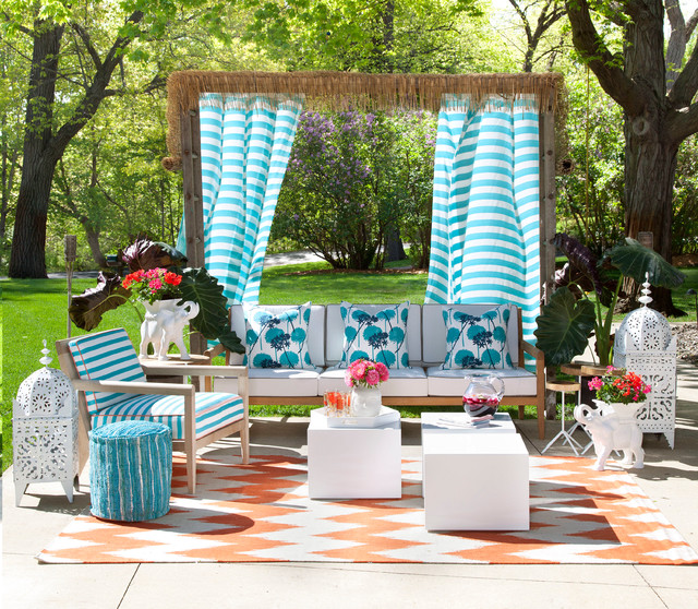 Cabana Cool Tropical Patio Minneapolis By Lucy Interior Design