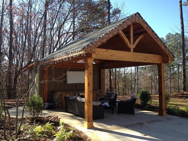 Cabana Projects Outdoor Living Spac - Traditional - Patio ... on Patio Cabana Ideas id=72871