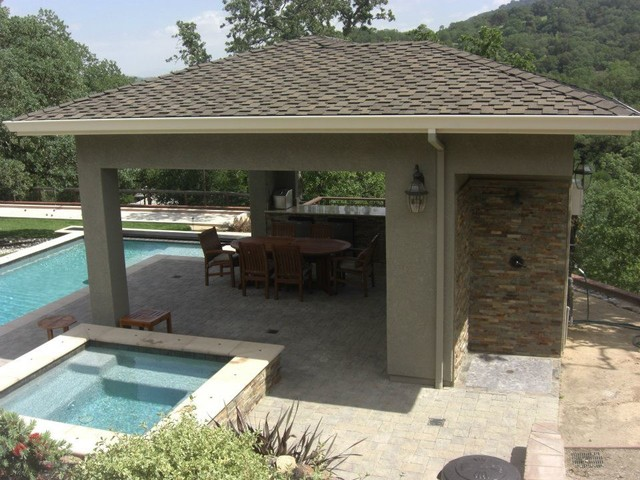 Cabanas by Rich Craig Construction, Inc. traditional-patio