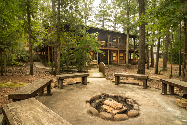 Cabins In Broken Bow Rustic Patio Oklahoma City By