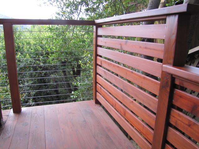 Nice Cable Rail Wood Post And Rail Contemporary Patio