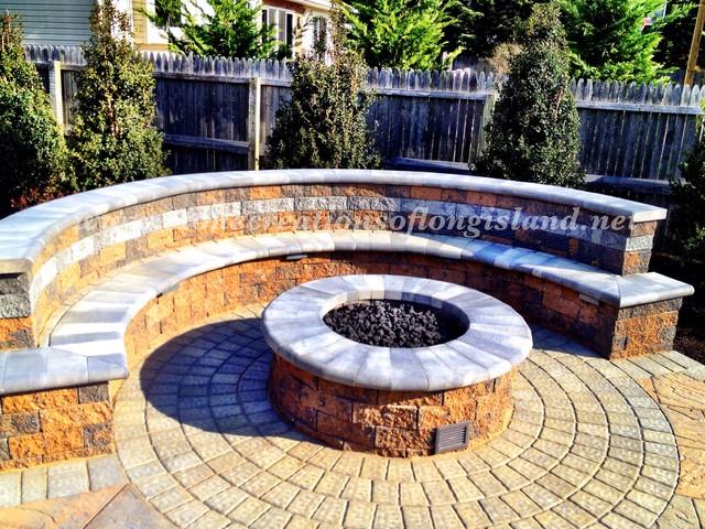 cambridge pyzique round gas fire pit modern patio new york