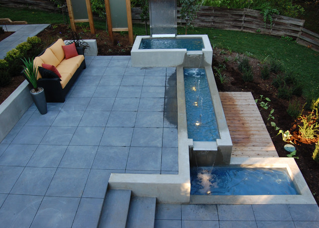 Beau Cambridge Water Feature Modern Patio