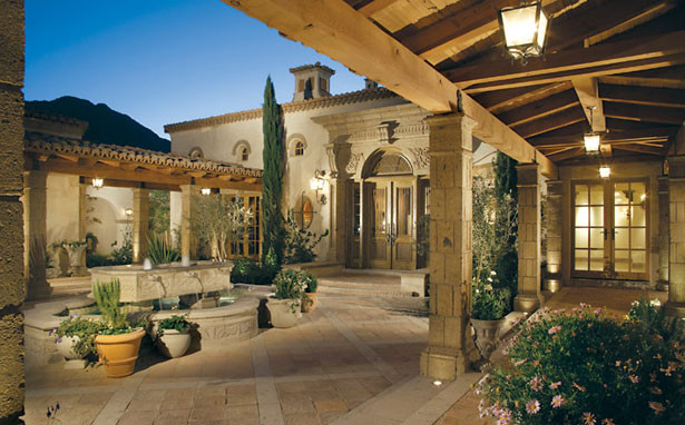 Candelaria for Mediterranean home plans with courtyards