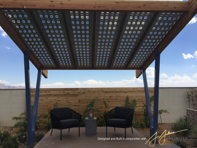 Cantilevered Shade Structure Modern