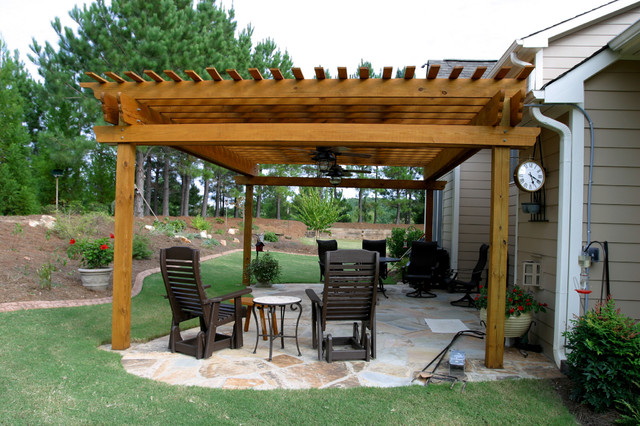 Canton Pergola - Wills traditional-patio - Canton Pergola - Wills - Traditional - Patio - Atlanta - By Artistic