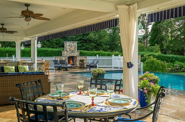 Cape Cod Dining Terrace - Beach Style - Patio - Boston - by ...