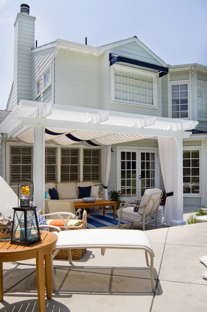 Cape Cod Style Patio Beach Style Patio Los Angeles