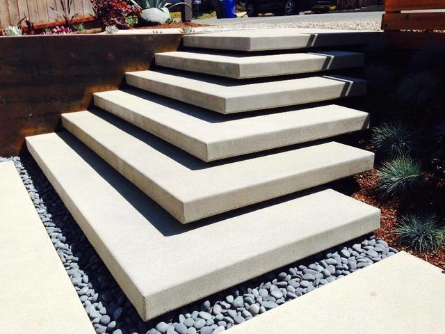 Cardiff Floating Stairs - Modern - Patio - San Diego - by Carson ...