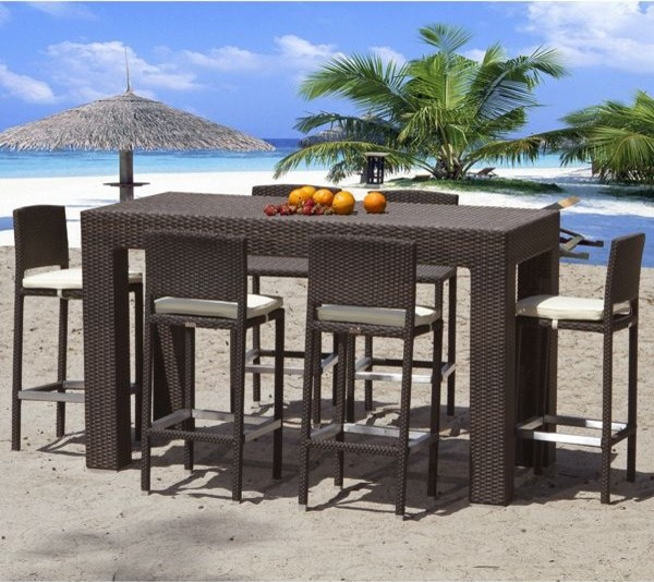 Caribbean Collection Outdoor Bar Stools Modern Patio