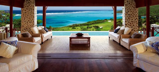 Caribbean Island contemporary-patio