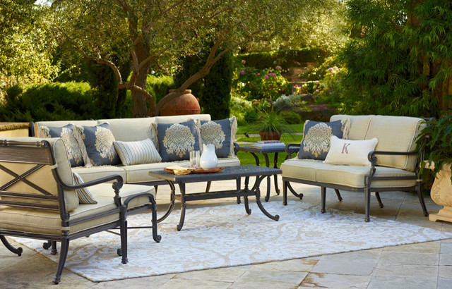 carlisle slate outdoor furniture traditional patio - Garden Furniture Traditional