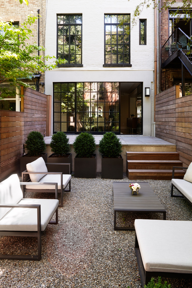 Transitional patio photo in New York