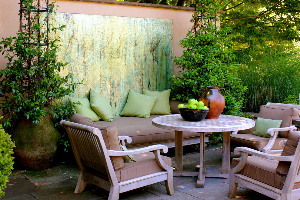 Inspiration for a timeless patio remodel in Portland with no cover