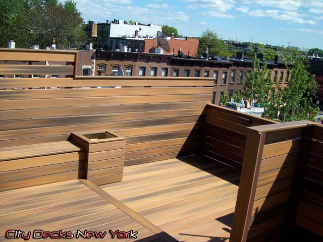 Carroll Gardens - Composite Roof Top Deck modern-patio
