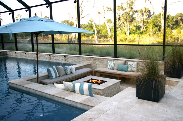 Carroll Pool Traditional Patio Jacksonville By Coastal Luxury Outdoors
