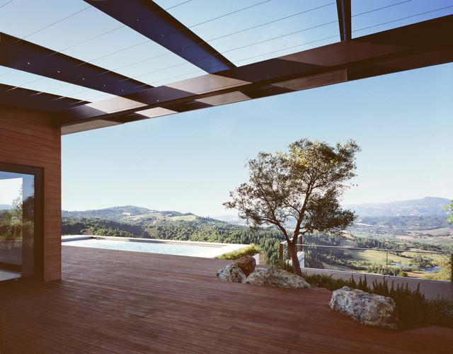 Cary Bernstein Architect Ridge House modern-patio