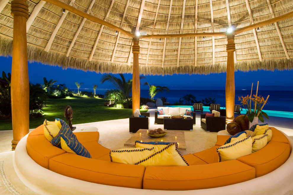 Large island style patio photo in Mexico City