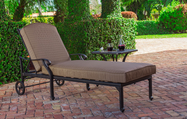 Castle Rock Chaise Traditional Patio Miami By El