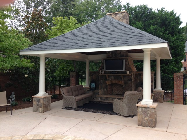 Casual Pool Pavilion - Craftsman - Patio - Charlotte - by Masters ...