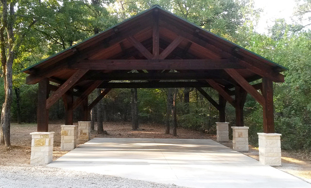 Cedar Carport In Pilot Point Texas Rustic Patio