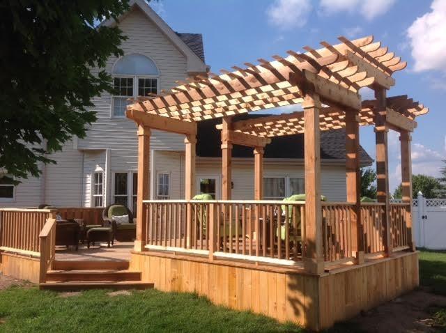 Cedar Deck And Pergola 2 Traditional Patio Chicago