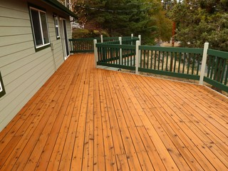 Cedar Deck Refinish - Traditional - Patio - other metro - by Webfoot ...