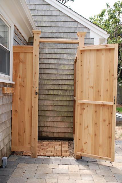 Cedar Outdoor Shower Boston By Cape Cod Shower Kits Co