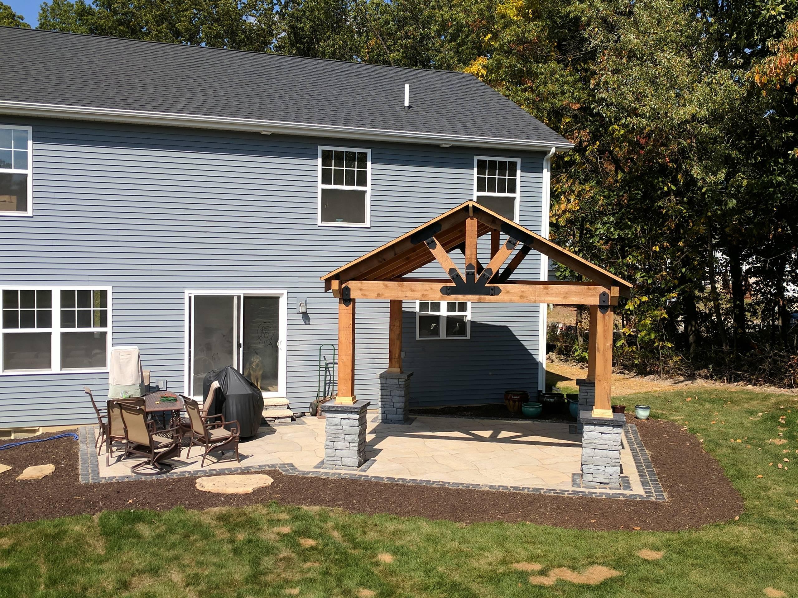 Cedar Pavilion and Patio