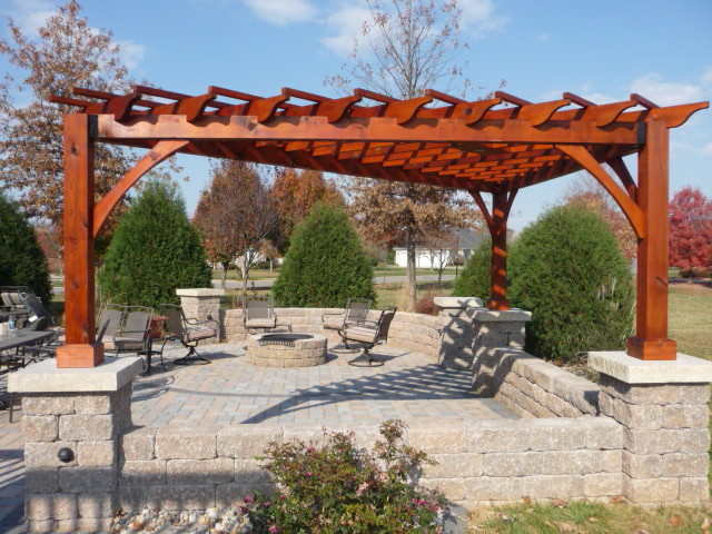 Cedar Pergola Traditional Patio St Louis By