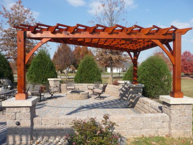 Cedar Pergola Traditional Patio St Louis By