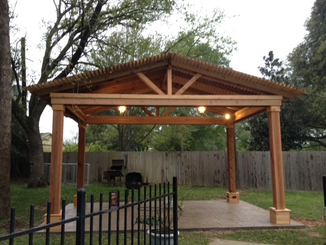 Cedar Pergola In Austin Texas Rustic Patio