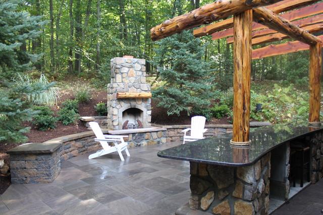 Cedar Pergola traditional-patio