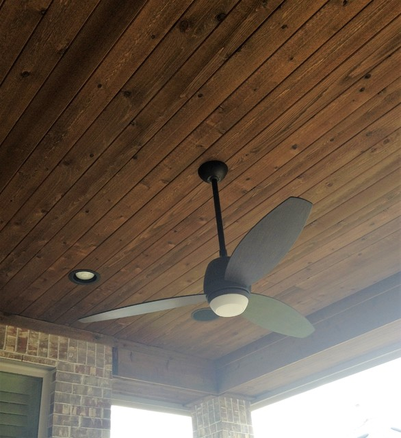 Cedar Tongue And Groove Ceiling Traditional Patio