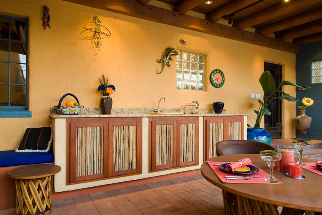 Central Tucson Bungalow Mediterranean Patio By Desert Earth And Wood Llc