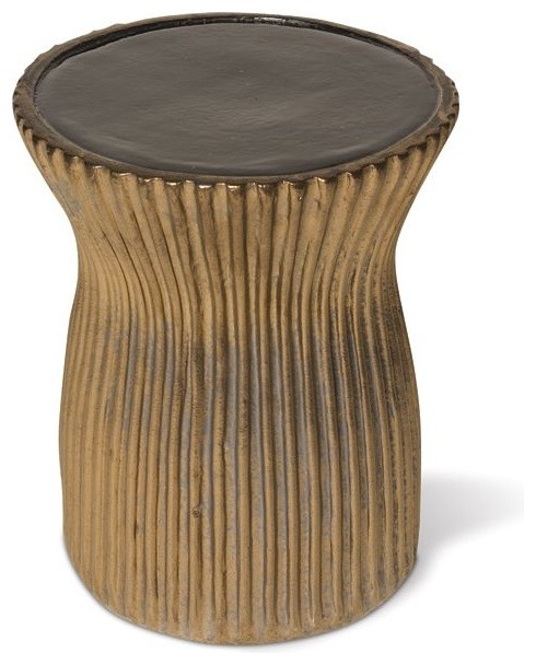 Ceramic Outdoor Stool - Accent And Garden Stools - chicago - by Home Infatuation