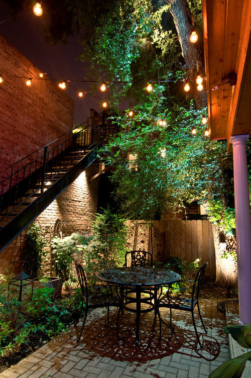 Small outdoor area lighting ideas photo credit traditional patio by joliet lighting outdoor accents