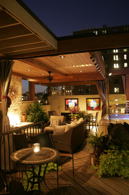 Chicago Roof Deck Traditional Patio chicago by