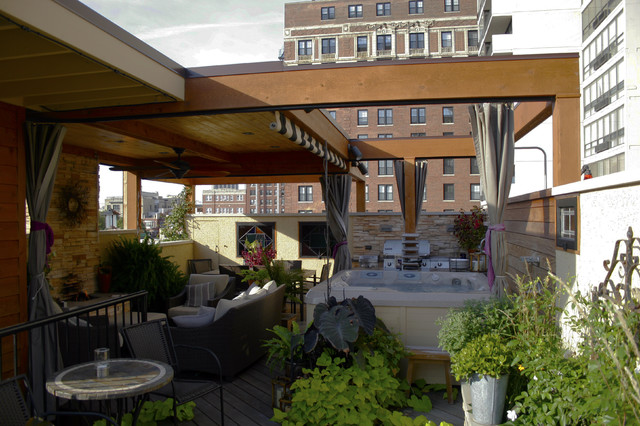Chicago roof deck modern patio chicago by daniel for Modern house roof deck designs