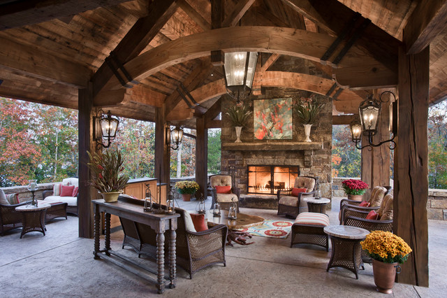 Chimney Rock Residence Rustic Patio