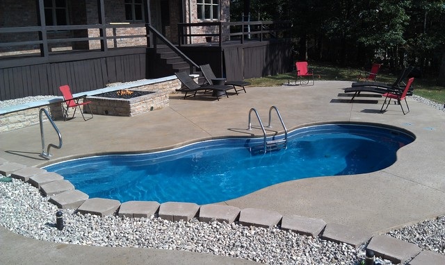 Chris R F Glass Pool Cabana Outdoor Kitchen In Branson