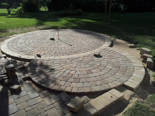Circular Paver Patio - Modern - Patio - Minneapolis - by ...