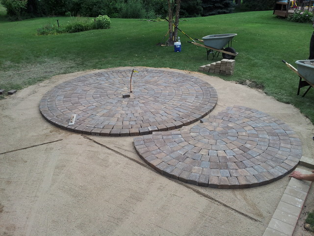 Circular Paver Patio Modern Patio Minneapolis By