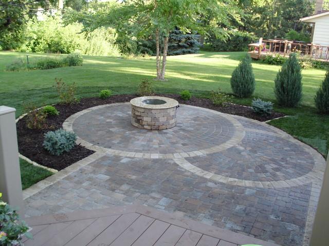 circular paver patio patio minneapolis by barrett