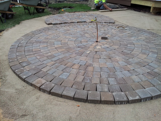 Circular Paver Patio - Modern - Patio - minneapolis - by ...